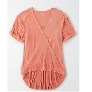 NWT - American Eagle Wrap Front Top